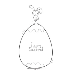 Happy easter cards  simple style vector