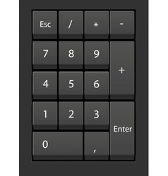 Close-up numpad vector