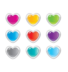 buttons hearts vector image