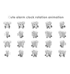 Alarm clock cute child ticker kid character icons vector