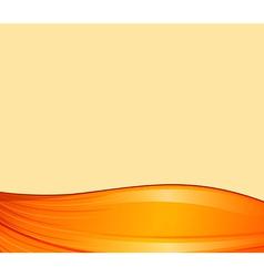 An orange border design vector