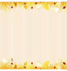 Autumn template background vector