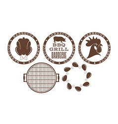 Barbecue grill stamp vector