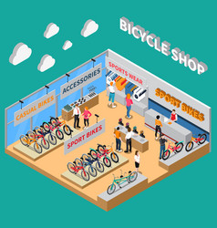 bicycle colored composition vector image vector image