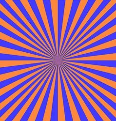 blue orange sunray vector image vector image