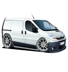 Cartoon cargo van vector