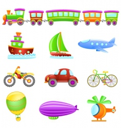 cartoon transportation vector image