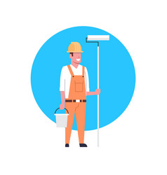 construction worker icon painter or decorator man vector image