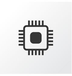 Cpu icon symbol premium quality isolated chip vector