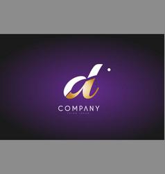 D alphabet letter gold golden logo icon design vector