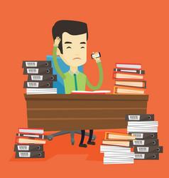 despair business man working in office vector image