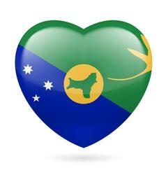 Heart icon of christmas island vector