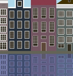 Houses of the old european city vector