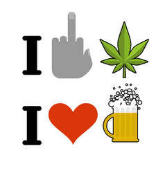 I hate drugs i like alcohol symbol of hatred vector