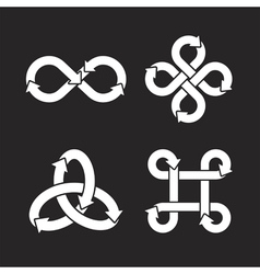 Infinity symbol icons vector image vector image
