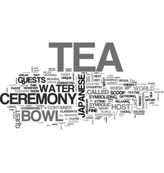 Japanese tea ceremony text background word cloud vector