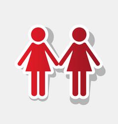 Lesbian family sign new year reddish icon vector