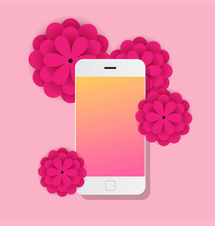 Mobile with flowers papers vector