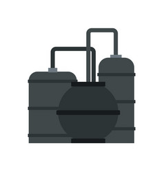 Oil refinery icon flat style vector