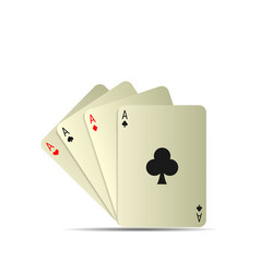 Poker playing cards vector