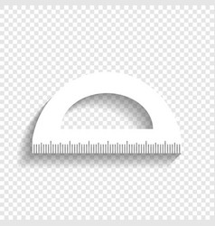 Ruler sign white icon with vector