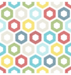 Seamless pattern of coloured hexagons vector