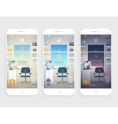 Set of wallpapers for mobile phone vector image