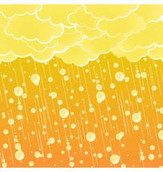sunset summer showers background vector image