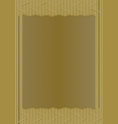 Unusual gold frame in modern design composed of vector