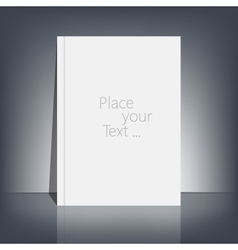 White blank stationary near the black wall with vector
