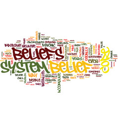 Your core belief text background word cloud vector