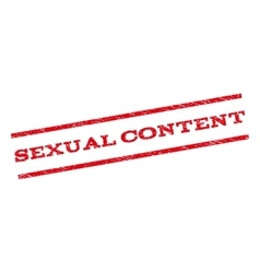Sexual content watermark stamp vector
