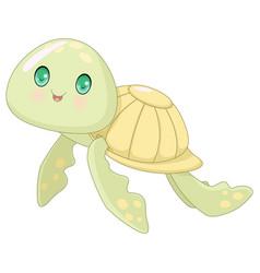 Cute turtle vector