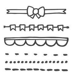 Hand drawn set isolated on white background vector