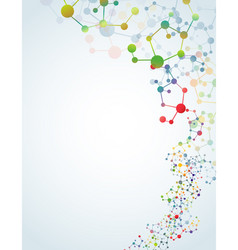 Multicolored molecular background vector
