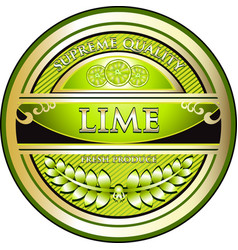 Lime gold label vector