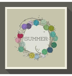 Abstract summer design with colorful beads vector