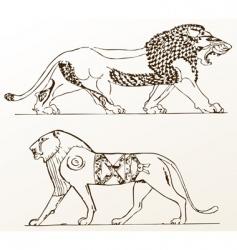 heraldic ornament  vector image
