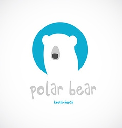 Polar bear head logo template vector
