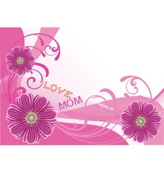 Floral card vector
