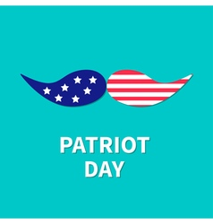 Patriot day mustaches flat vector