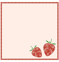 Card with berries empty square form with ornamenta vector