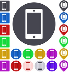 Color smartphone icon set vector
