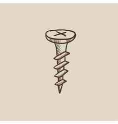 Screw sketch icon vector
