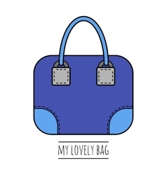 Hand bag isolated color flat icon object vector