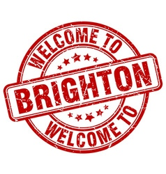 Welcome to brighton vector