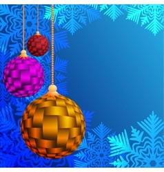 Balls for a decoration christmas vector