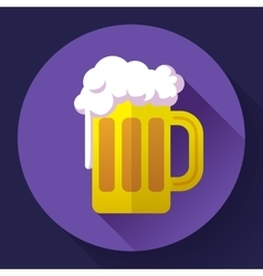beer glass cup icon Oktoberfest logo Flat vector image vector image