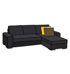 Big black sofa vector
