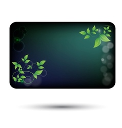 card with green leaves vector image